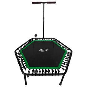 Фитнес -батут SportElite FB-1351, d=135 см, с ручкой и компьютером