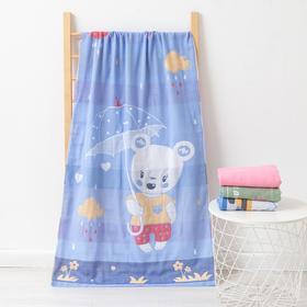 Полотенце двухстороннее Крошка Я «Медвежонок» 70х140 см