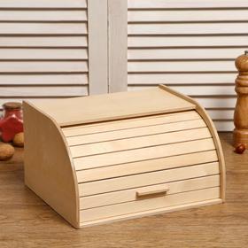 """Хлебница деревянная """"Корица"""", прозрачный лак, 29×24.5×16.5 см"""