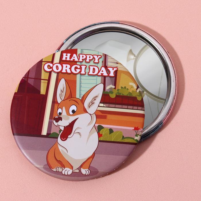 Зеркало «Корги», d 7,5 см, цвет разноцветный