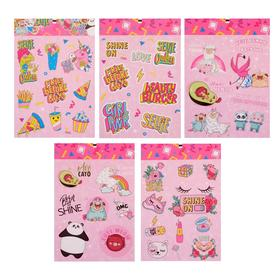 A set of paper stickers