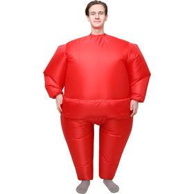 Костюм надувной «Однотонный», рост 150-190 см, цвет красный