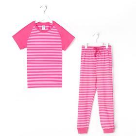 Пижама для девочки, цвет красный, рост 98-104 см