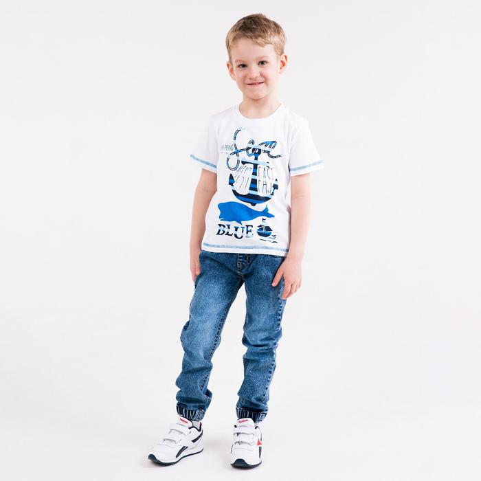 Футболка для мальчика, цвет белый, рост 116-122 см - фото 105487083