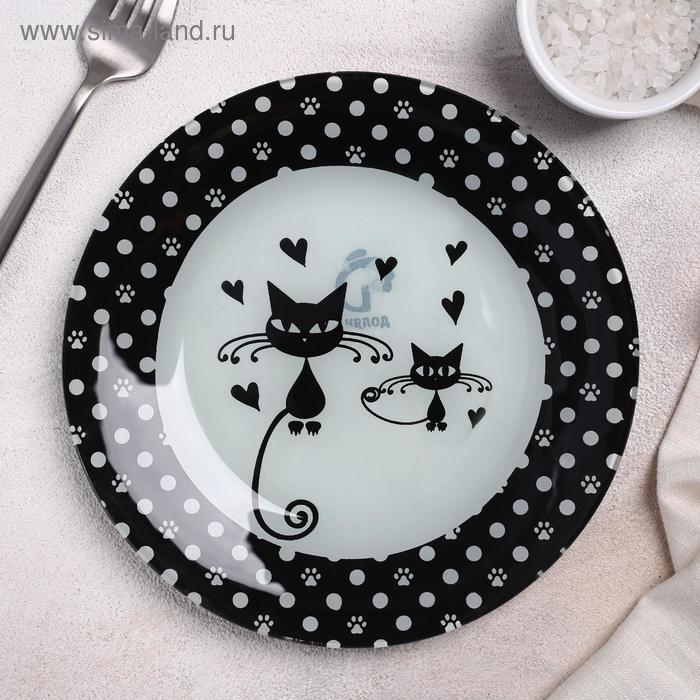 "Pie plate ""Kotiki"", 18×1.6 cm"