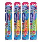 Зубная щётка Wisdom Brightstar, мигающий таймер, на присоске, с 3 лет , МИКС
