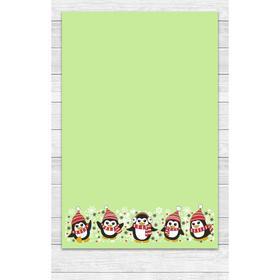 Полотенце «Пингвины» 39х60 см, цвет зелёный