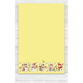 Полотенце «Снеговики» 39х60 см, цвет жёлтый