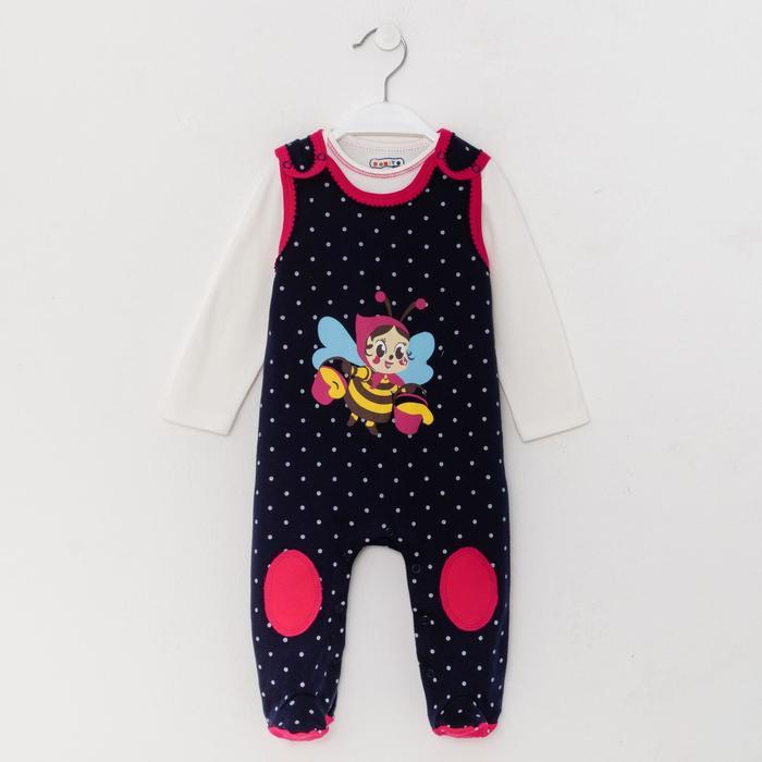 Комплект для новорожденных, цвет тёмно-синий/пчела, рост 62 см - фото 1953854