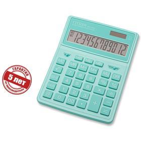 Калькулятор настольный Citizen 12-разр, 155*204*33мм, 2-е питание, бирюзовый SDC-444XRGNE