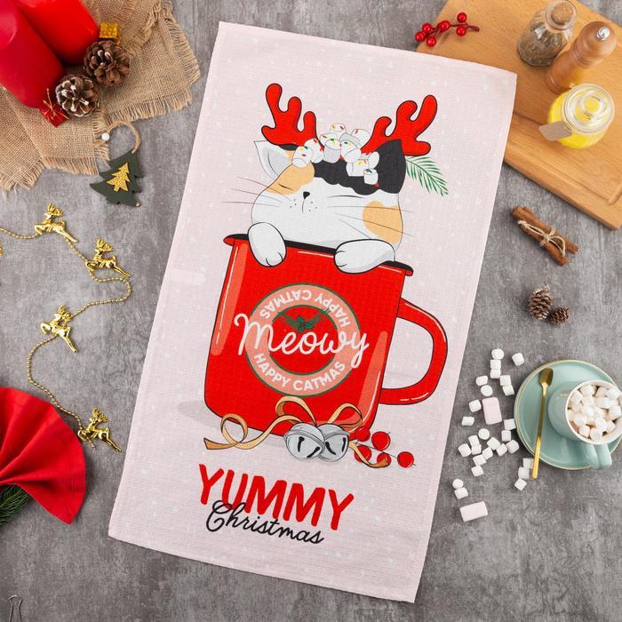 "Полотенце ""Этель"" Yummy Christmas 40х73 см, 100% хл, вафел.полотно 164 гр/м2 - фото 759970"