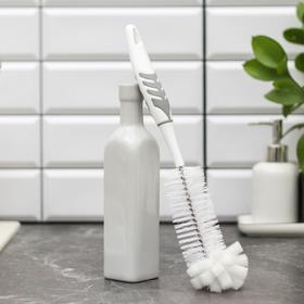 Ёршик для мытья посуды с губкой, пластиковая ручка