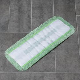 Насадка для плоской швабры, 40 см, микрофибра, цвет МИКС - фото 4647797