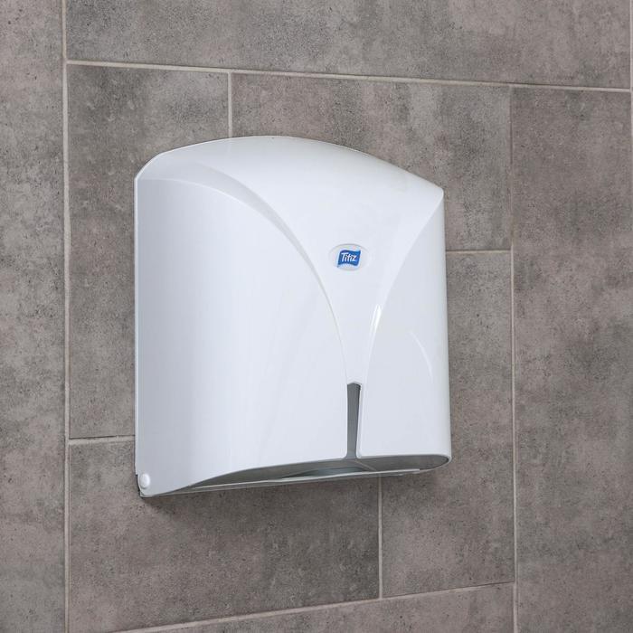 Диспенсер бумажных полотенец в листах Titiz, цвет белый - фото 798704823