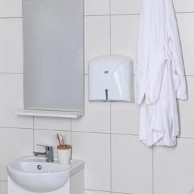 Диспенсер бумажных полотенец в листах, цвет белый