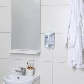 Диспенсер для антисептика/жидкого мыла механический Titiz, 1000 мл, белый/прозрачный