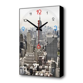"Часы настенные, серия: Город, ""Мегаполис"", 1 АА, плавный ход, 57х35х4 см"