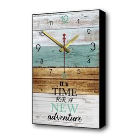"""Часы настенные """"Пришло время новых открытий"""", 1 АА, плавный ход, 37х60 см"""