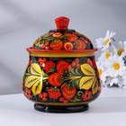 Sugar bowl large, 13, 5x17 cm, Khokhloma