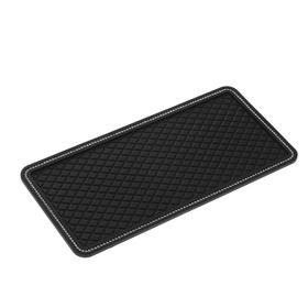 Anti-slip mat with rhinestones, 30 x 14 cm, black