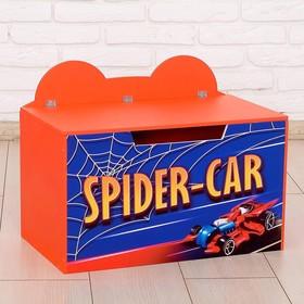Контейнер-сундук с крышкой SPIDER-CAR, цвет красный