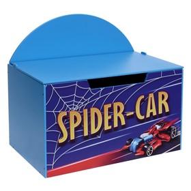 Контейнер-сундук с крышкой Spider car, цвет синий