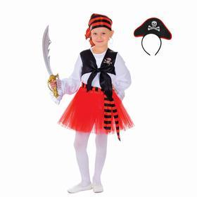 Карнавальный костюм «Пиратка», с ободком, р. 32, рост 128 см