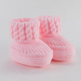 Пинетки детские, цвет розовый, размер 18 (1 мес.)