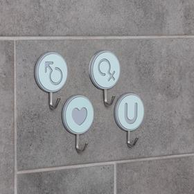 """Set of hooks with Velcro """"Signs"""", 4 PCs, color MIX"""
