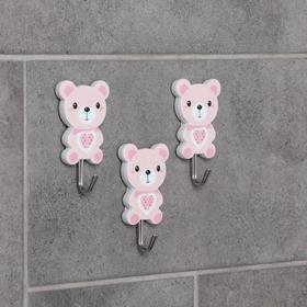 "Set of hooks with Velcro ""Bears"", 3 PCs, drawing MIX"