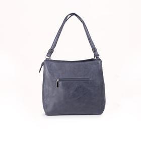Сумка женская, отдел на молнии, 3 наружных кармана, цвет синий - фото 51170
