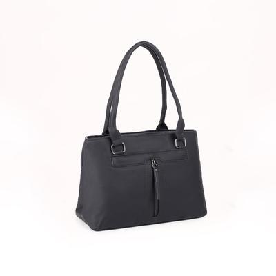 Women's bag 1688, otd with zipper, 3 n / pockets, black