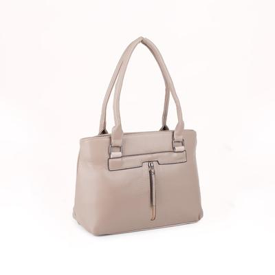 Women's bag 1688, otd with zipper, 3 n / pockets, beige