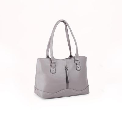 Women's bag 1650, otd with zipper, 2 n / pockets, grey