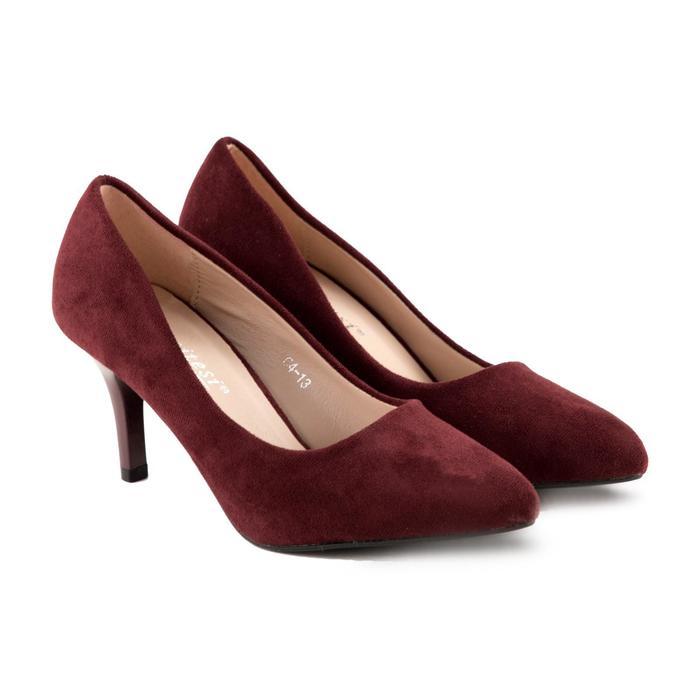 Туфли женские Meitesi, цвет бордовый, размер 35