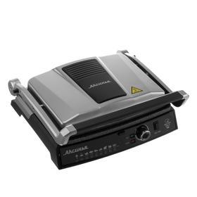 """Гриль электрический """"АКСИНЬЯ"""" КС-5210, 2200 Вт, антипригарное покрытие, 3 режима, серый 3959031"""