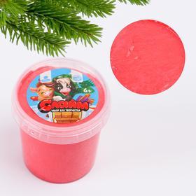 Игрушка Лизун «Слайм. Новогодний теленок», красный 130 мл