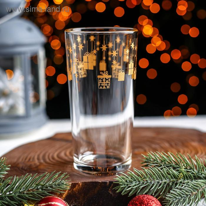 """High glass """"gift Time"""", 230 ml, gold"""
