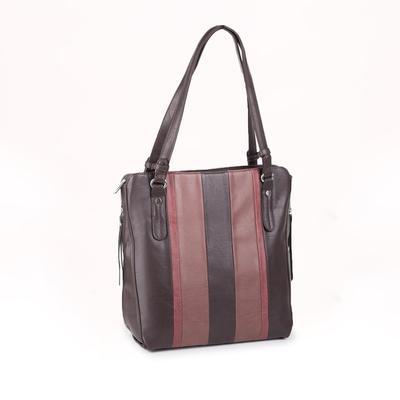 Women's bag t-87, otd with zipper, n / a pocket, brown
