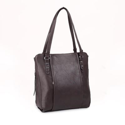 Women's bag t-90, otd with zipper, n / a pocket, brown