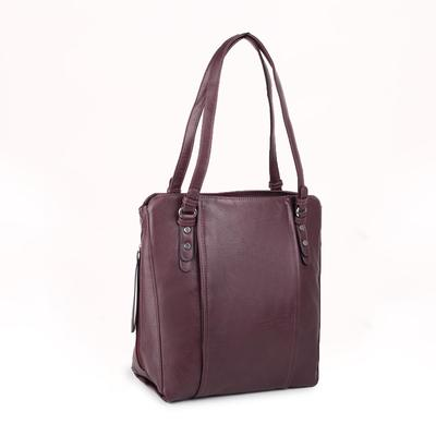 Women's bag t-90, otd with zipper, n / a pocket, Burgundy