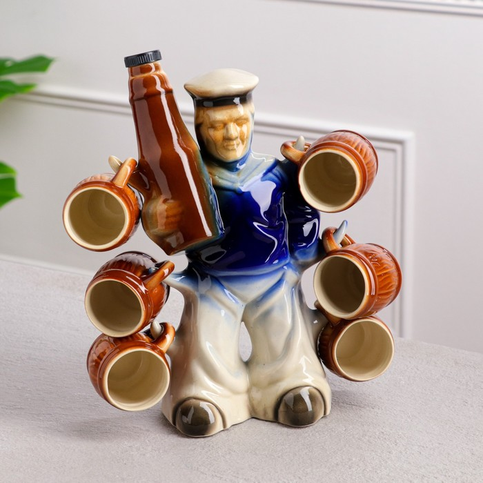 "Штоф с рюмками ""Моряк с бутылкой"" 7 предметов, 0,75 л"