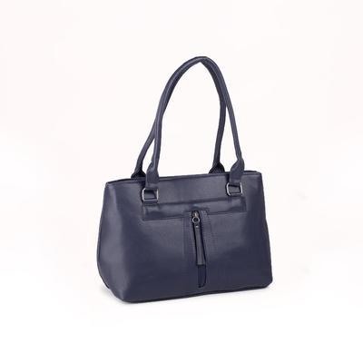 Women's bag 1688, otd with zipper, 3 n / pockets, blue