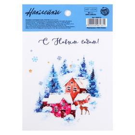 "The sticker has a luminous layer of ""Winter"", 10,5 x 14,8 cm"