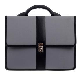 Портфель деловой ткань 370 х 290 х 100 мм, «Всеволожск», комбинированный 5 отделений, серый
