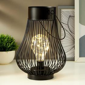 Lamp 16123/1 LED powered by 3AAA batteries black 18x18x24.5 cm