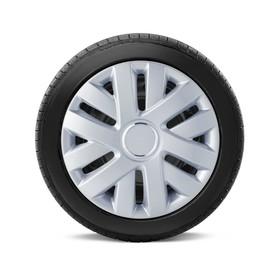 "Колпаки на колёса AUTOPROFI, металлик, 15"", 370 мм, набор 4 шт"