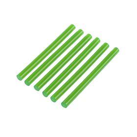 Клеевые стержни TUNDRA, 7 х 100 мм, зеленый, 6 шт.