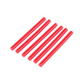 Клеевые стержни TUNDRA, 7 х 100 мм, красный, 6 шт.