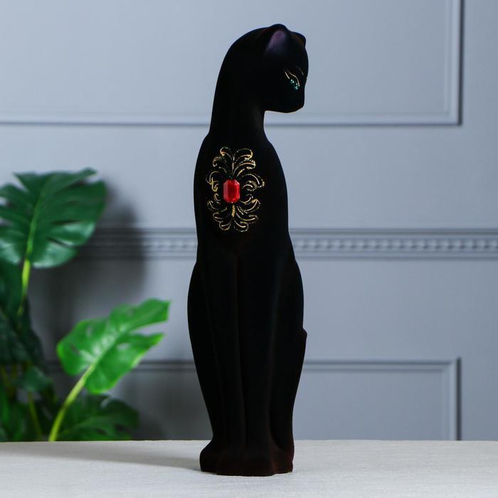 """Копилка """"Кошка Багира"""" флок, чёрная, 50 см, микс"""